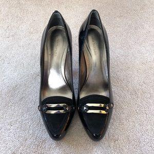 Ann Taylor Black Patent Leather & Suede Pumps